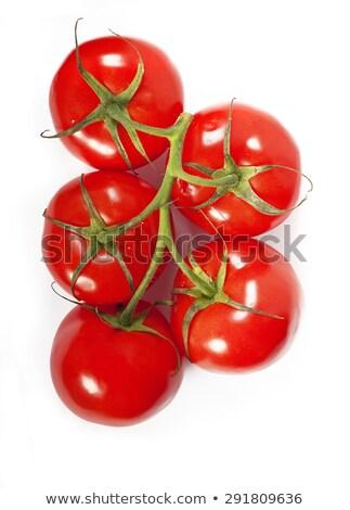 赤 · トマト · クローズアップ · 白 · ピラミッド · 背景 - ストックフォト © mizar_21984