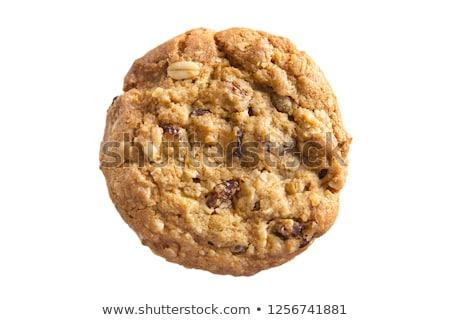 クッキー レーズン 孤立した 白 デザート ストックフォト © sfinks