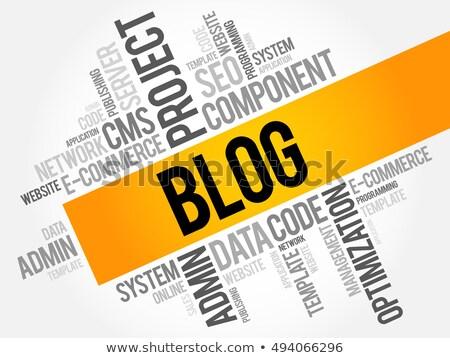 blog · illustrazione · parola · computer · internet - foto d'archivio © tashatuvango