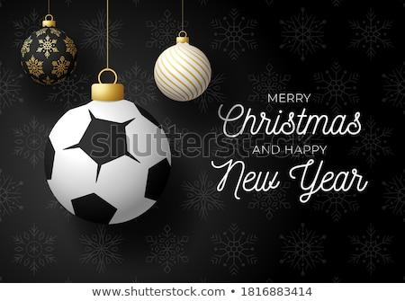 Boldog futballabda fényes rajz illusztráció kezek Stock fotó © bruno1998
