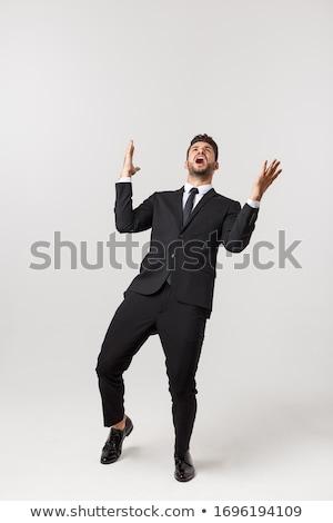 あごひげ ビジネスマン 腕 空気 笑顔 男 ストックフォト © sebastiangauert