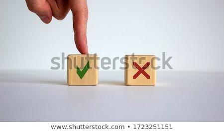 Keuze ja geen Rood groene Stockfoto © ikopylov