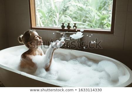 美しい 夢のような 女性 長い ブロンド 髪 ストックフォト © dash