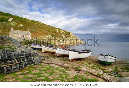 Cornwall sahil yol son plaj manzara Stok fotoğraf © latent