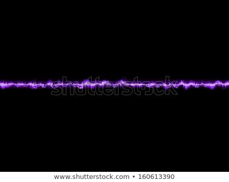 Electronic sine sound or audio waves. EPS 10 Stock photo © beholdereye
