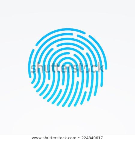 dedo · impresión · policía · información · personal · identidad - foto stock © alexmillos