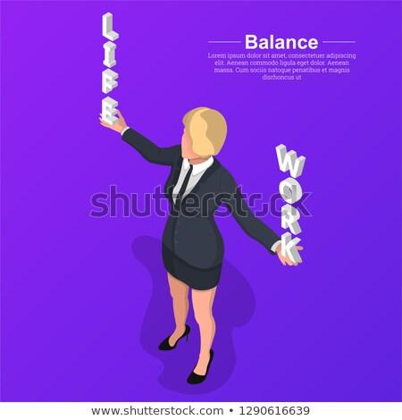 Homme mains équilibrage vie stress 3D Photo stock © jenbray