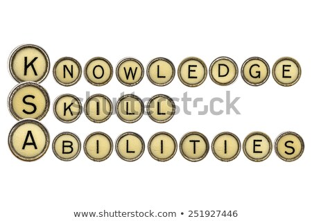Skills on Old Typewriter's Keys. Stock photo © tashatuvango