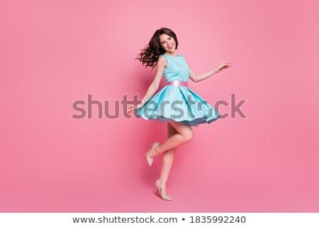 Bella giovani bruna donna piccolo gonna Foto d'archivio © Nejron