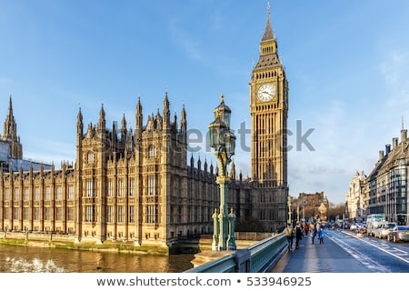 traffic on westminster bridge with big ben in background stock photo © 5xinc