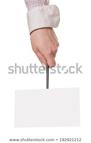 Leuze geïsoleerd witte kantoor textuur teken Stockfoto © OleksandrO