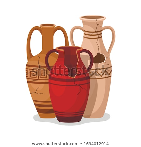 Stock photo: two vessels of clay