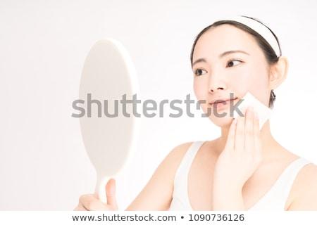 Belo cuidados com a pele cosméticos cinza mulher Foto stock © CandyboxPhoto