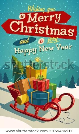 Christmas Gift Sled Stock photo © Lightsource