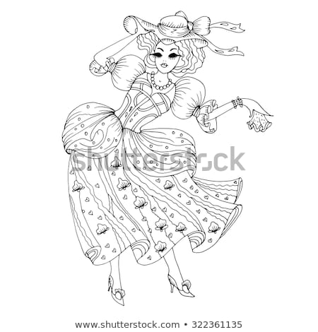 Elegant woman in black and white corset  Stock photo © Elisanth