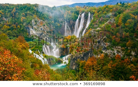Beautiful waterfalls at Plitvice Lakes National Park Stock photo © Lizard