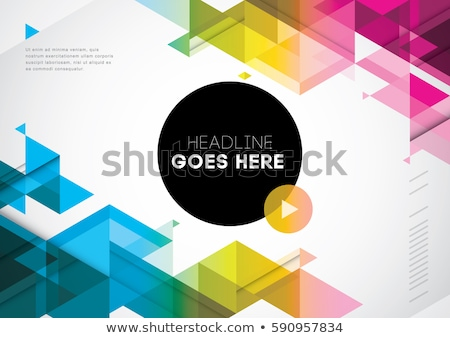 Stockfoto: Abstract Triangular Geometric Background