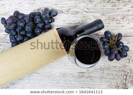 Kék szőlő bor olasz gyümölcs fekete Stock fotó © Hofmeester