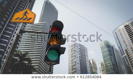 Populariteit Rood verkeersbord opschrift hemel weg Stockfoto © tashatuvango