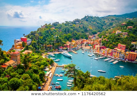 famoso · pequeño · pueblo · Italia · azul · viaje - foto stock © Antonio-S