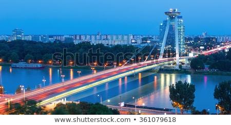 Bratislava Eslováquia ver céu estrada Foto stock © Kayco