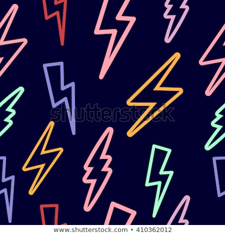 Watercolor lightning bolt seamless pattern Stock photo © cienpies