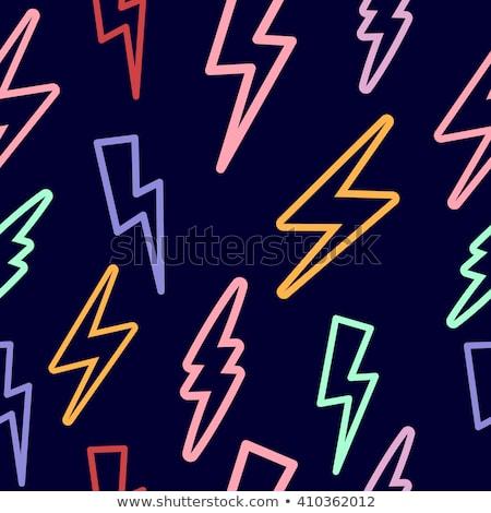 watercolor lightning bolt seamless pattern stock photo © cienpies