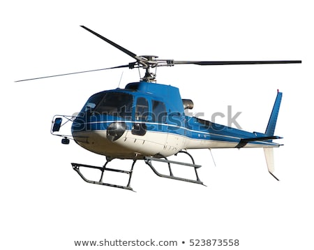 Stockfoto: Helicopter In Cloudy Sky