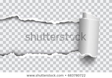 прозрачность рваной бумаги слово за Torn грубая оберточная бумага Сток-фото © ivelin
