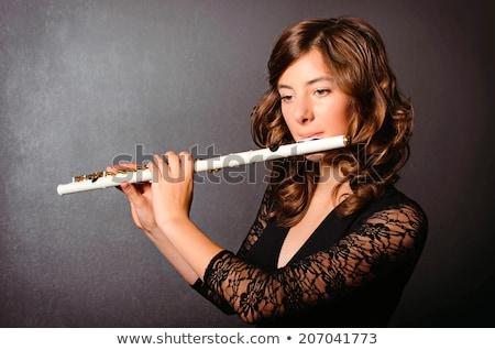 woman flutist stock photo © piedmontphoto