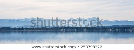 meer · eiland · mist · hemel · water · boom - stockfoto © magann
