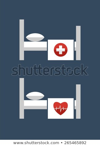 Heath Care Bed Red Vector Icon Design Stock photo © rizwanali3d