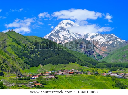 village · Géorgie · montagne · caucase · rétro · voiture - photo stock © taigi