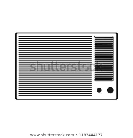 ingesteld · airconditioner · home · verwarming · koeling · apparaat - stockfoto © cteconsulting