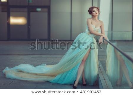 portrait · femme · robe · belle · femme - photo stock © konradbak