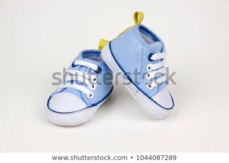 Pair of blue baby shoes. Stock photo © RuslanOmega