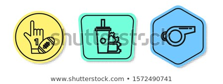 Referee With Drinks And Rugby In Hand Stock photo © AndreyPopov