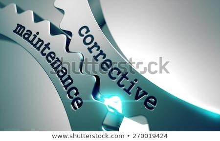 onderhoud · metaal · versnellingen · mechanisme · wiel · monteur - stockfoto © tashatuvango