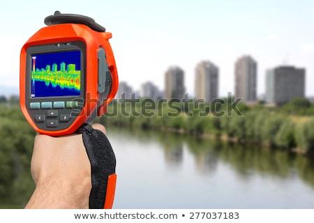 infrared image panorama of zagreb stock photo © smuki