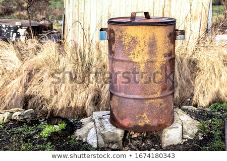 burn barrel in the snow stock photo © piedmontphoto