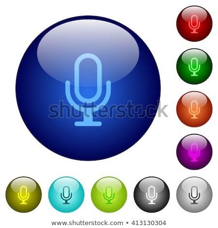 Elektronikus felszerlés citromsárga vektor gomb ikon Stock fotó © rizwanali3d