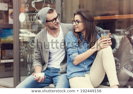 Young Urban Man Relaxing with Legs Crossed Stock photo © stevanovicigor