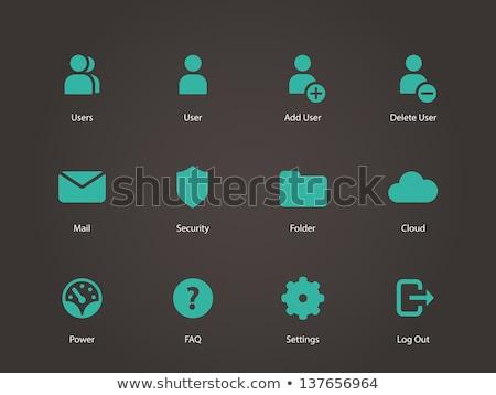 Gyik zöld vektor ikon terv kulcs Stock fotó © rizwanali3d