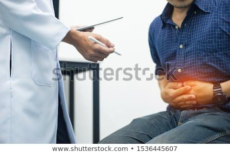 Foto stock: Médicos · discutir · intestinos · raio · x · médico · escritório