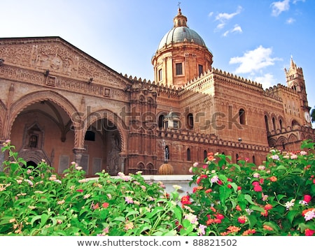 Cloister of the Monreale Abbey, Palermo Stock photo © ankarb