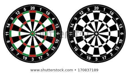 Darts tábla játék telitalálat illusztráció cél Stock fotó © tony4urban