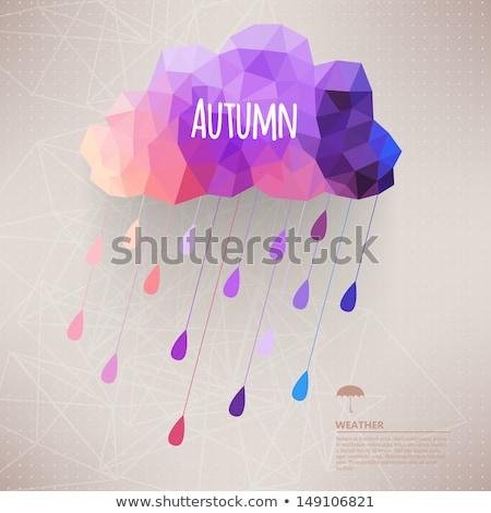 bordo · quadro · folhas · árvore · primavera · abstrato - foto stock © carodi