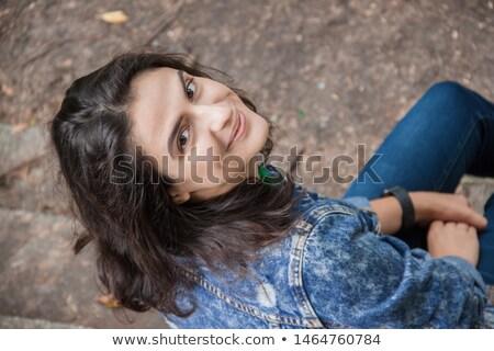Jovem belo meninas brim terno urbano Foto stock © nenetus