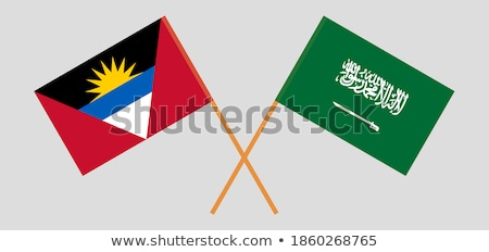 Szaúd-Arábia zászlók puzzle izolált fehér üzlet Stock fotó © Istanbul2009