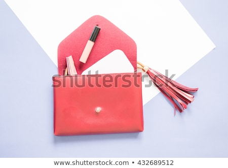 Open women clutch bag Stock photo © GeniusKp